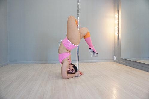 Pole dance top rosa chiclete