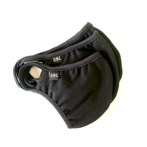 Kit 3 Máscaras de proteção dupla camadas 100% algodão