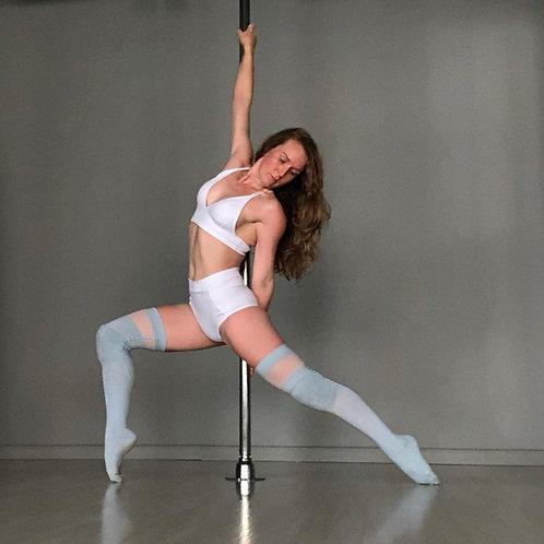 Pole Dance Top - Terra Branco