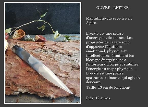 Ouvre lettre en Agate