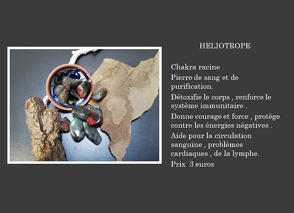 Héliotrope pierre roulée