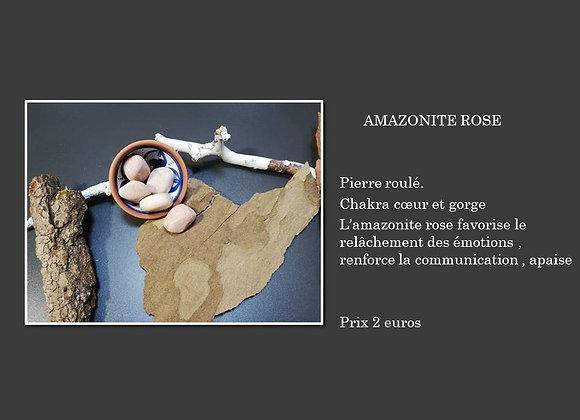 pierre roulé amazonite rose