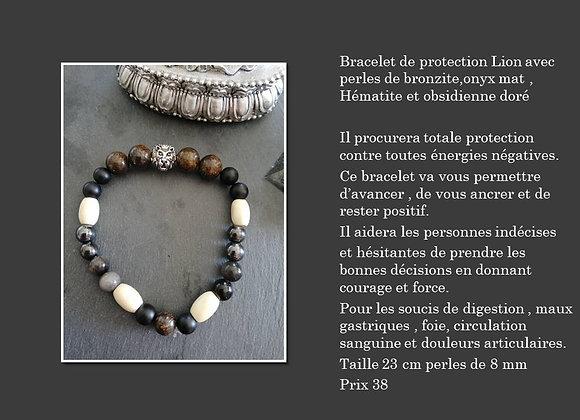 bracelet de protection lion 1