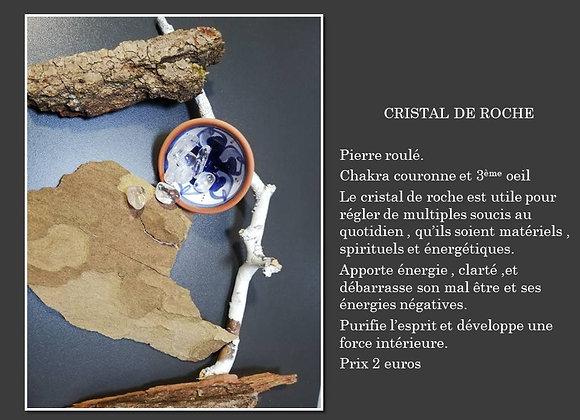 pierre roulé cristal de roche