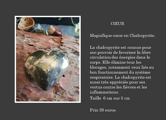 Coeur en chalcopyrite