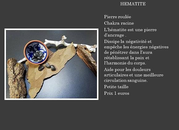 Hématite pierre roulée petite taille