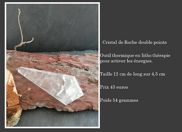 Cristal de roche double pointe