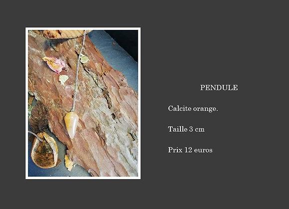 Pendule calcite orange