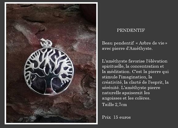 Pendentif arbre de vie Améthyste