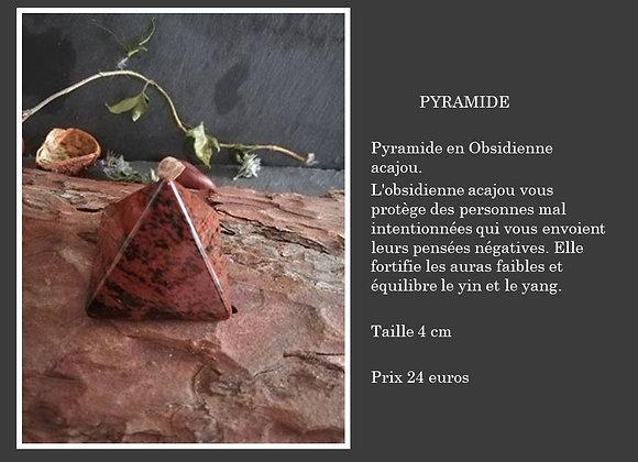 Pyramide Obsidienne acajou