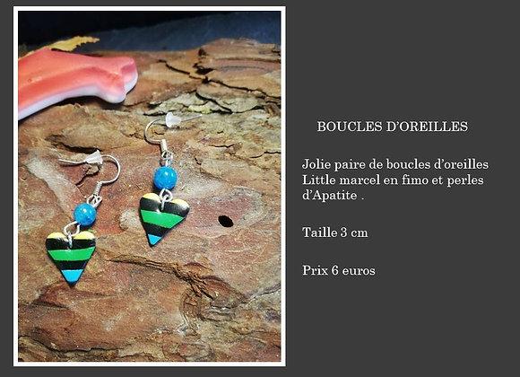Boucles d'oreilles little marcel