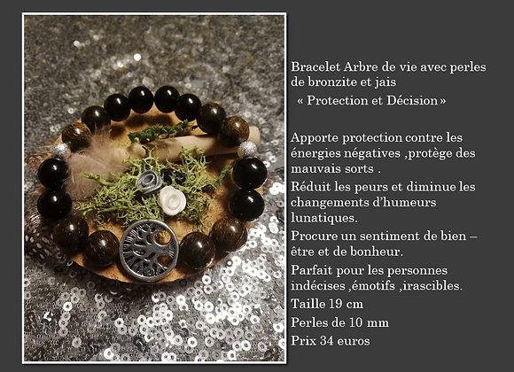 Bracelet bronzite et jais