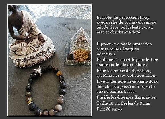bracelet loup protection