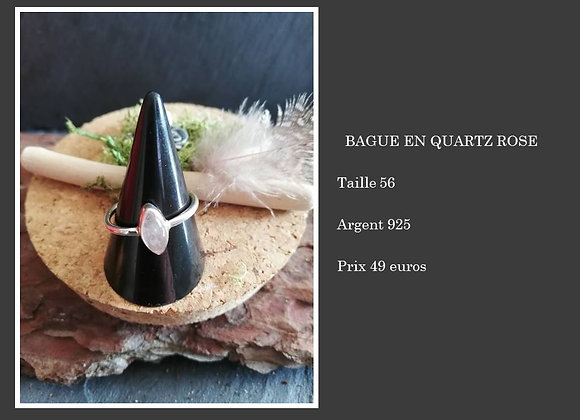 Bague en quartz rose