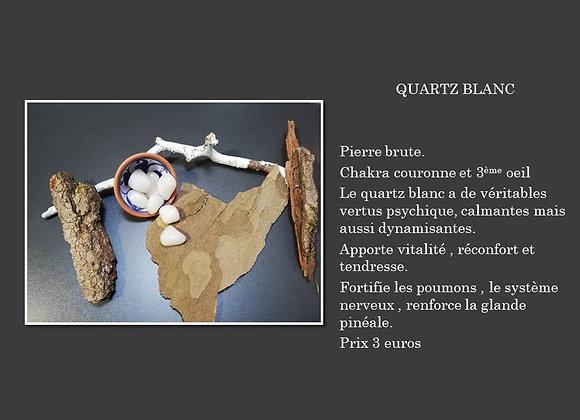pierre roulé quartz blanc