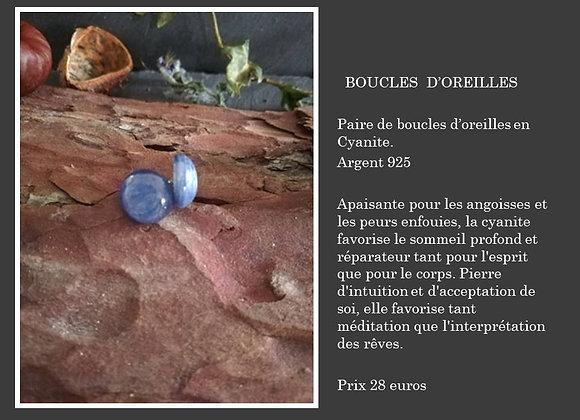 Boucles d'oreilles en Cyanite