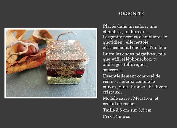 Orgonite carré Métatron