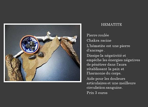 Hématite pierre roulée