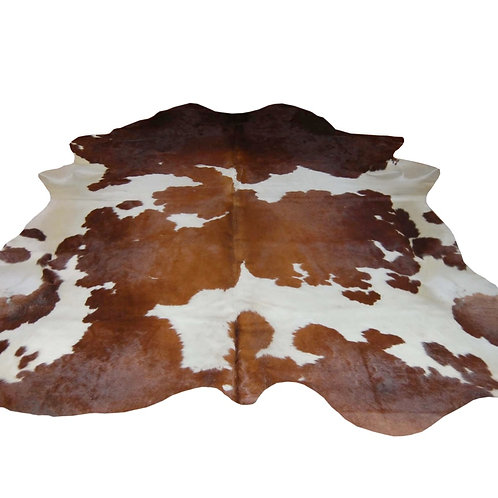 Brown & White Brazilian Cow Hide