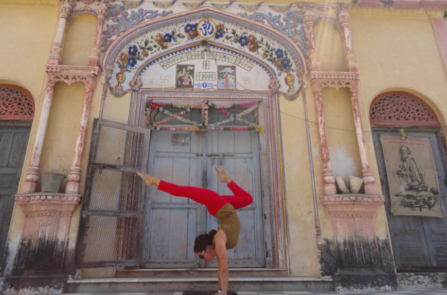 Indian Temple Handstand