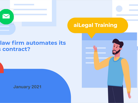 How a law firm automates its clients' contracts?