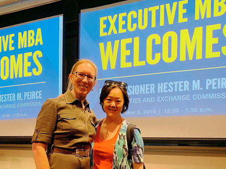 Lucy Meets with SEC commissioner Hester Maria Peirce