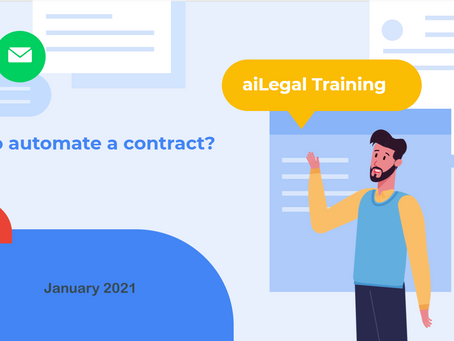 How to automate your first customized contract?