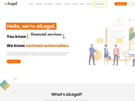 How to register an aiLegal account?