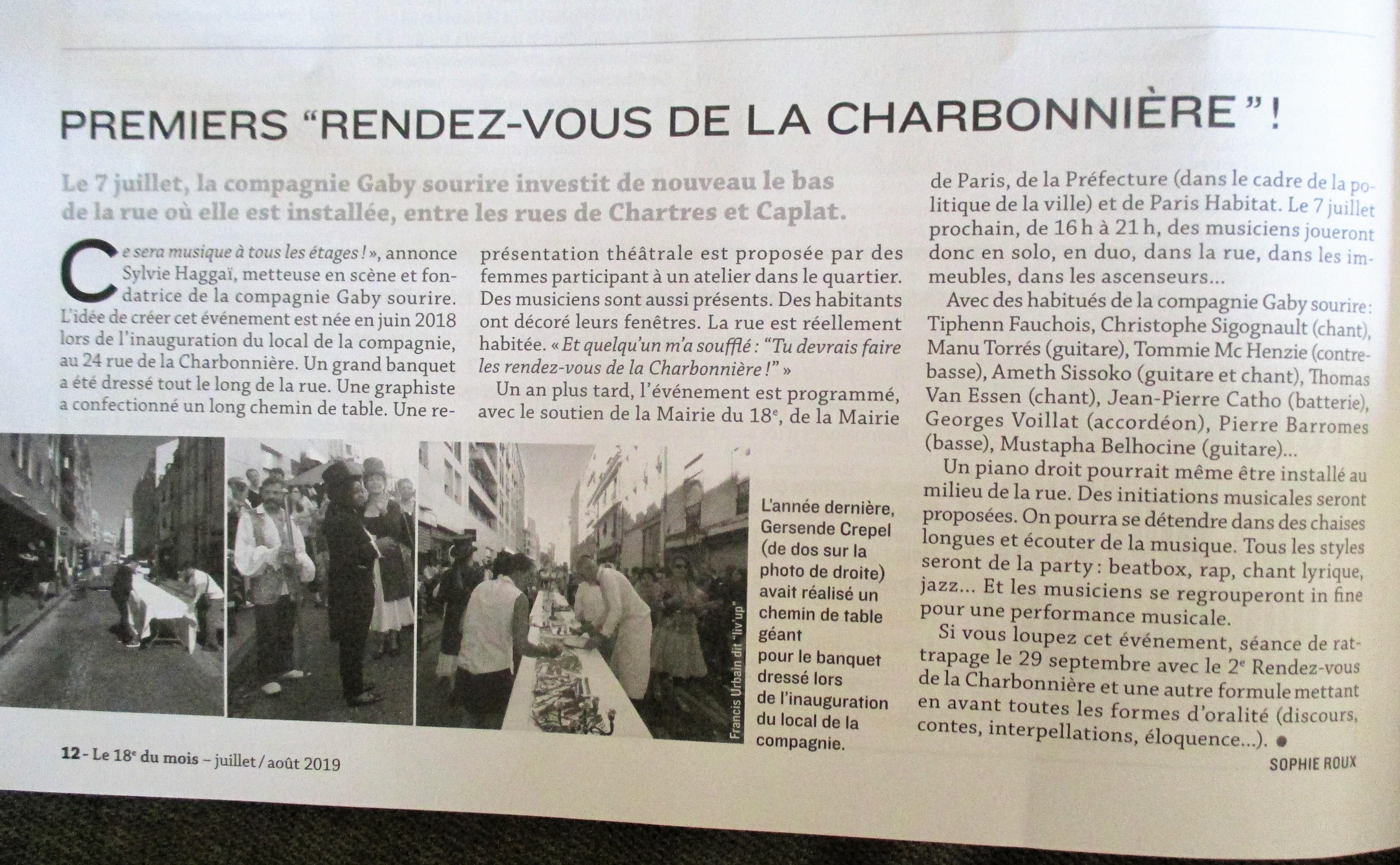 PREMIER RDV DE LA CHARBONNIERE
