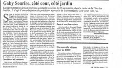 CÔTE COUR CÔTE JARDIN