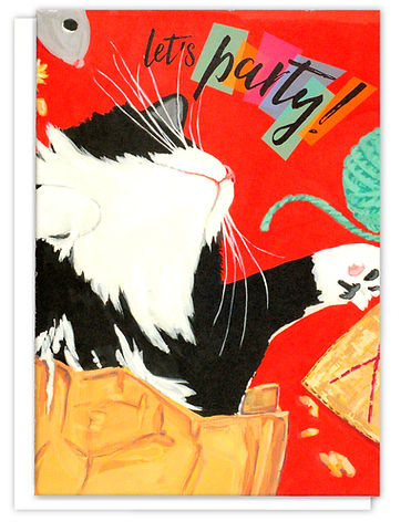 Tuxedo Cat Birthday Card Etsy
