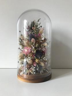 VERKOCHT Stolp met droogbloemen
