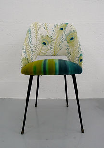 Chaise années 60, Atelier Primavera, Tissu HARLEQUIN et SANDESON
