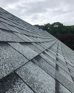 Inspecting a roof today after a house fi