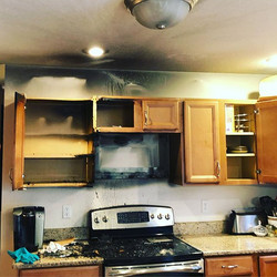 Homeowner suffered a kitchen fire last n