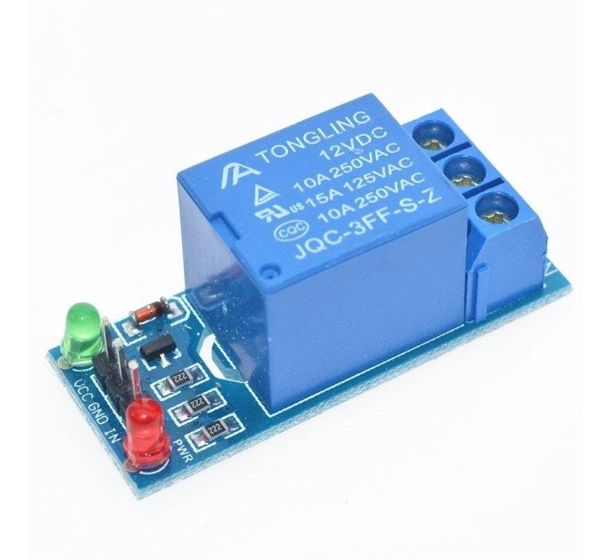 Modulo Rele 12v 10a De 1 Canal Disparo Bajo Alto Para Arduino