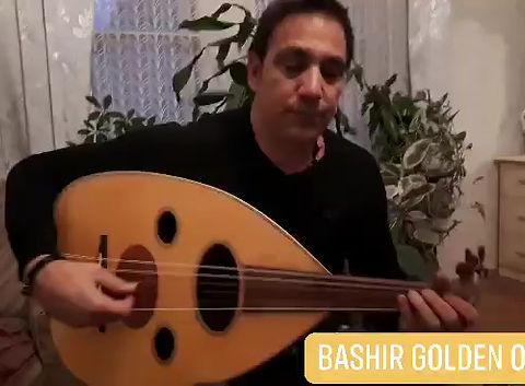 Omar Bashir playing on Bashir Golden Oud