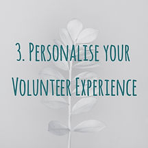 Personalise your Verify Humanity's volunteer experience.