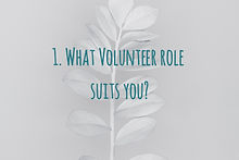 Work out what volunteer role suits your knowledge, skills and aspirations.