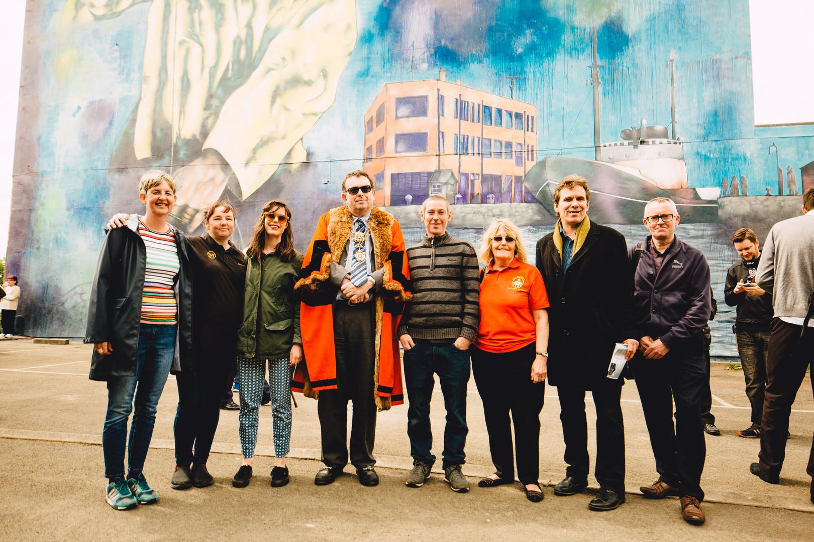 Hessle Road Mural Unveiling