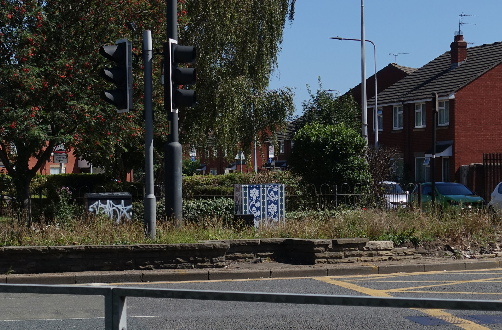 Tile signal control box art on Beverley Road, Hull by Lydia Caprani. Commissioned by Hull City Council.Sculcoates Lane Queens Road Junction.