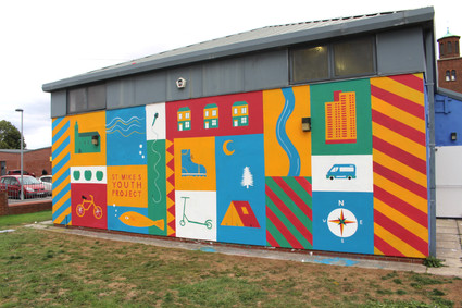 Orchard Park youth centre mural