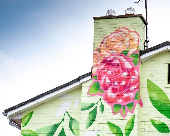 Bilton Grange Mick Ronson Mural Hull by Lydia Caprani and Spray Creative