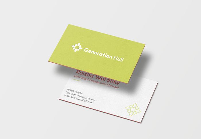 Generation Hull brand visual identity logo by Lydia Caprani Studio Capri.