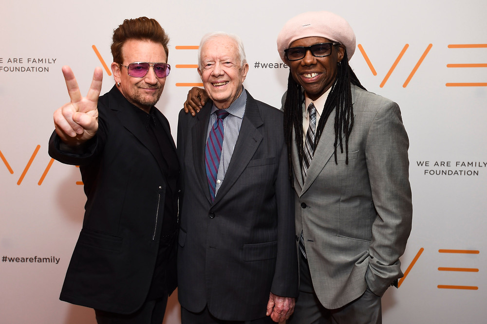 Bono, Jimmy Carter and Nile Rodgers