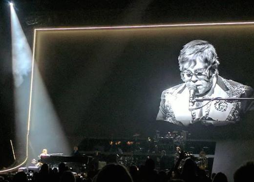 Elton John Performs in Atlanta on World AIDS Day 2018.