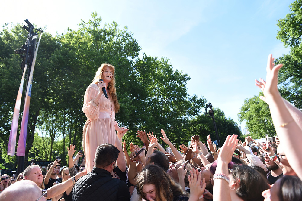 Florence Welch Performs in Central Park 2018