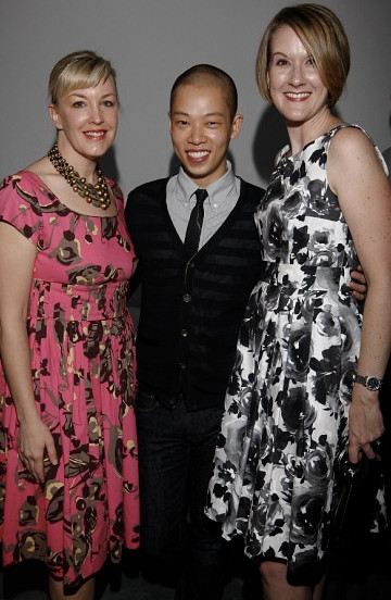 Kristi York Wooten, Jason Wu, and Paige Smith at Jeffrey Fashion cares kickoff party