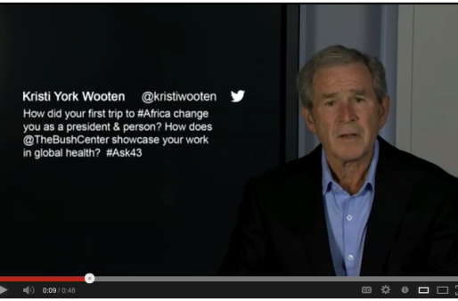 Social Media Moment: George W. Bush Sends Kristi York Wooten a YouTube Message | TWITTER