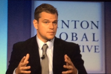 Matt Damon Talks Toilets at Clinton Global Initiative
